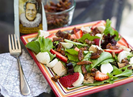 Strawberry, Mozzarella and Candied Pecan Salad