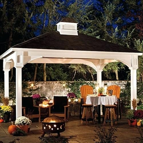 Colorful 10 X 14 Canopy Figures Beautiful 10 X 14 Canopy Or 10 X 14 Traditional Vinyl Pavilion 37 10 X 14 P Outdoor Pavilion Backyard Gazebo Backyard Pavilion