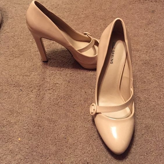 Nude Pumps Platform six inch heels. Size: 7.5 Brand: Call it Spring. Color: Nude. Can be worn with any outfit! Quality is like new... Call It Spring Shoes Heels