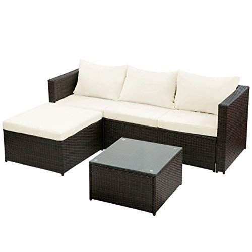 Pin On 900 Outdoor Patio Furniture, Patio Furniture 3 Piece Sectional Sofa Resin Wicker Beige