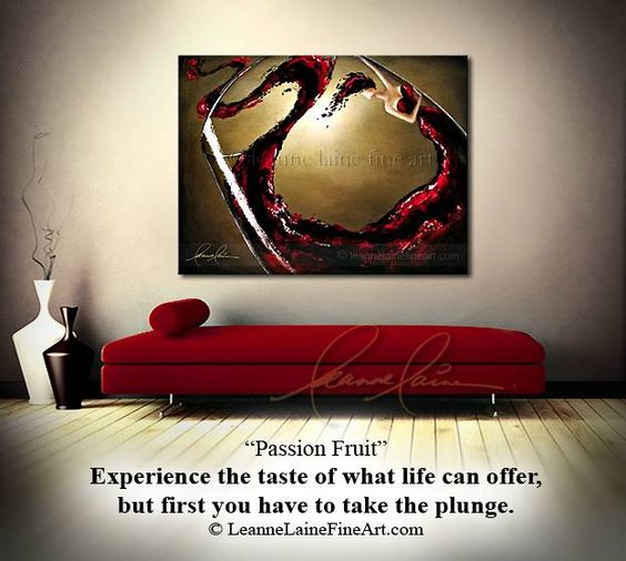 """Passion Fruit"" by wine artist © Leanne Laine Fine Art #wineart #winepainting"