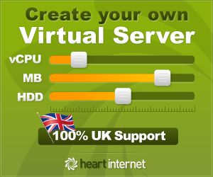 Heart Internet Coupon: unlimited web hosting only £8.99 per month!
