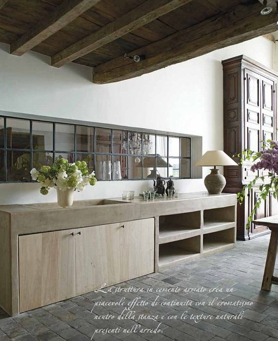 Best Concrete Counter Oak Cabinets And Beams On Pinterest 400 x 300