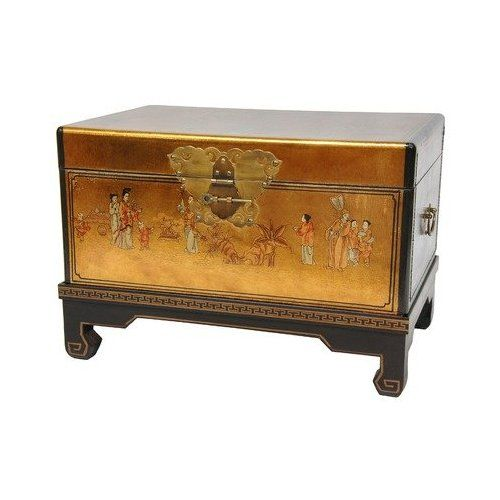 amazoncom oriental furniture hand painted asian decor 26 inch gold leaf small trunk oriental hope chest home kitchen amazoncom oriental furniture rosewood korean tea table