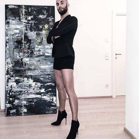 factory outlet order online hot products badmike on instagram in 2019 | Men in heels, Men wearing ...