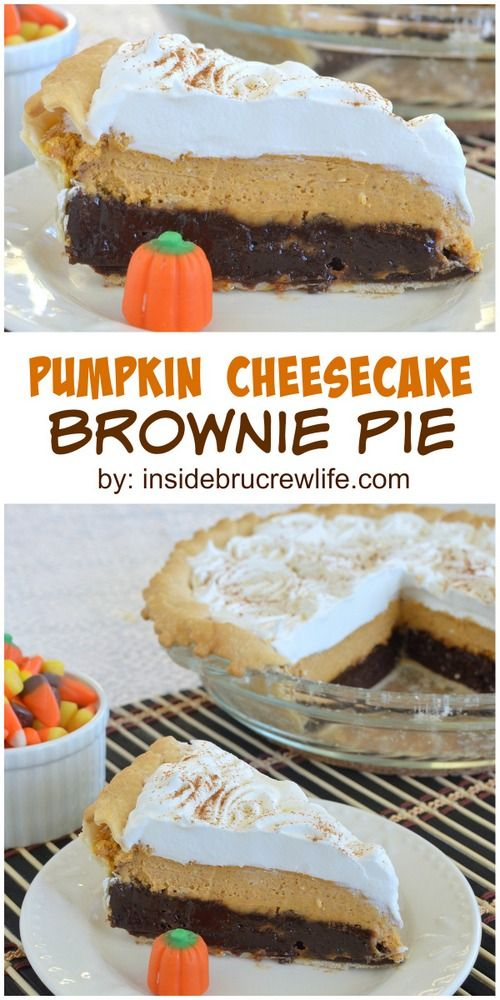 Cheesecake brownies, Pumpkin cheesecake and Brownies on Pinterest