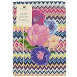 zig zag floral stitched A5 notebook