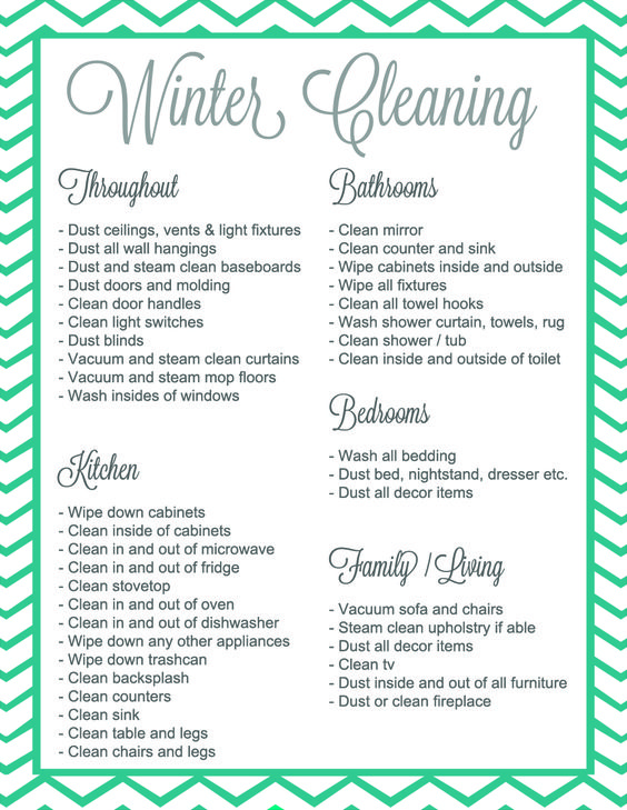 Winter Cleaningitu0027s a thing {Giveaway + Free Printable - spring cleaning checklist