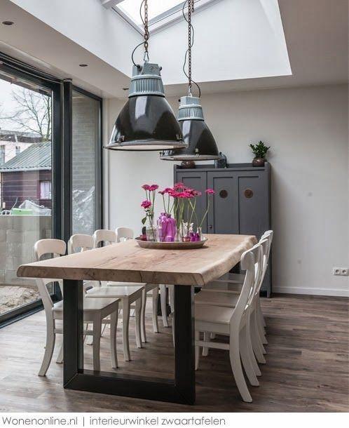 WOONINSPIRATIE XXL Stoere tafels, kekke stoeltjes en bijzondere lampen: