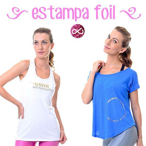 Olha só que lindas essas blusas com estampa foil! Tem no site! corre lá! #temnalivreeleve #sejalivreeleve #livreelevelove