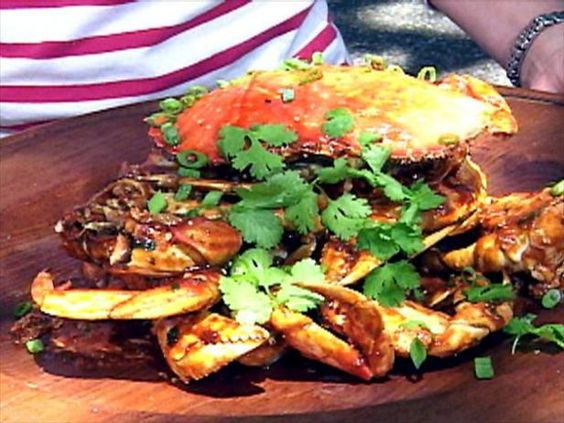 Get Singapore-Style Chili Crabs Recipe from Food Network