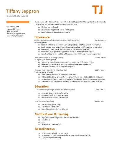 dental hygiene resume examples images about dental hygiene resumes ... - Dental Hygiene Resume Examples