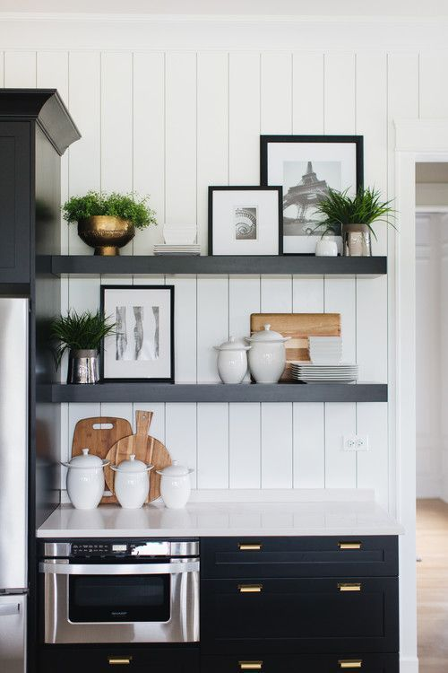 Sophisticated Chic Modern Farmhouse Home Tour Pickled Barrel Kitchen Interior Interior Design Kitchen Floating Shelves Kitchen