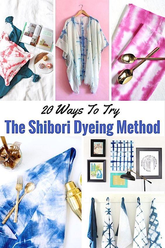 20 Ways To Try The Shibori Tie Dye Method - Shabbyfufu