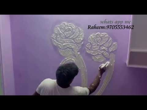 Wall Design Ideas Putty Texture To Decorate Room Youtube Wall Texture Design Wall Design Wall Paint Designs