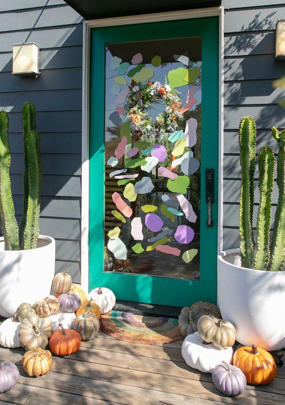 a fall wreath + door decal diy... / via oh joy!