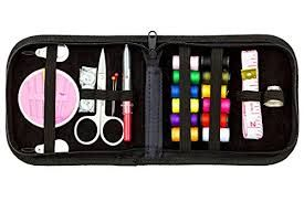 MADE TO LAST WITH WATERPROOF BLACK OXFORD CLOTH FABRIC. Will not break like other sewing kits with cheap plastic cases. Attractive, compact carrying sturdy zippered canvas case holds high-quality sewing kit tools; Elastic holders keep things permanently in place.