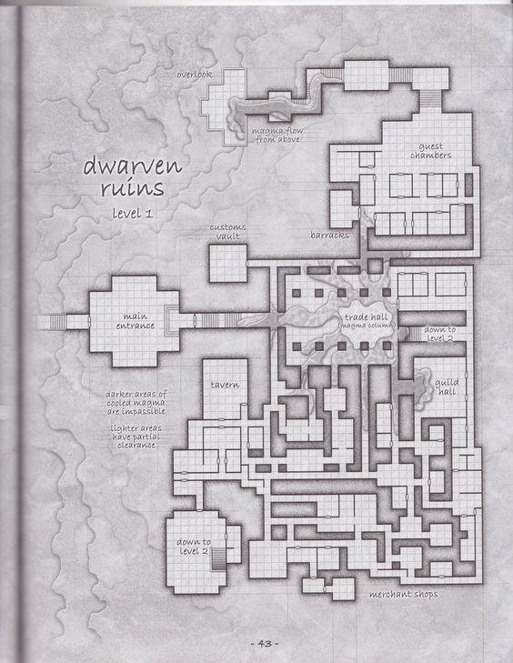 Its a cool dungeon 2 of 3 rpg maps pinterest map it for Floor 2 dungeon map