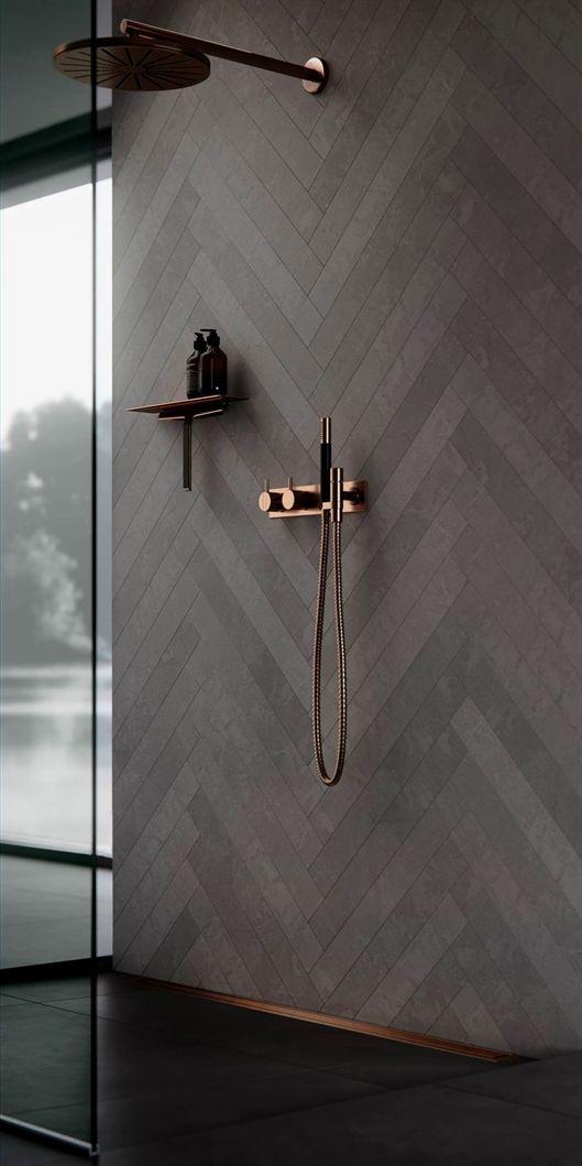 Copper Bathroom Fittings Bathroom Decor Ideas And Inspiration Shower Interior Design Bath Ide Kamar Mandi Sketsa Desain Interior Desain Kamar Mandi Modern