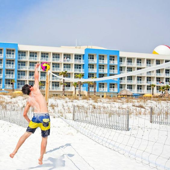 Who's ready for some beachside volleyball?