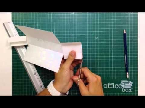C mo hacer una caja para guardar tarjetas tutorial - Como hacer una caja ...