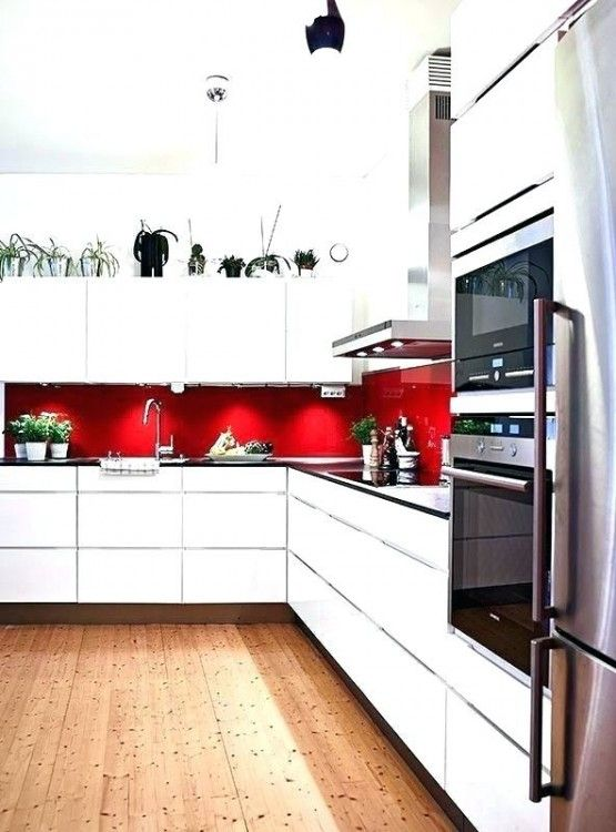 Kitchen Ideas Red And White With Images Red Kitchen Decor