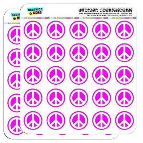 Peace Sign Symbol Pink 1 Planner Calendar Scrapbooking C Https