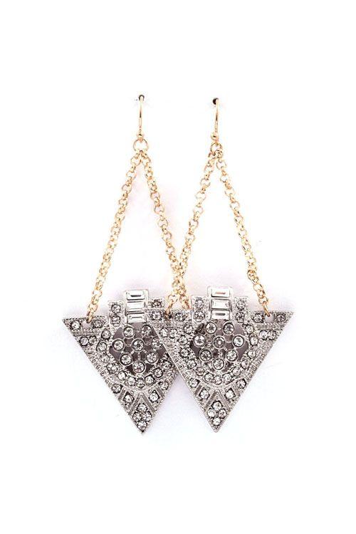 Deco June Earrings in Silver