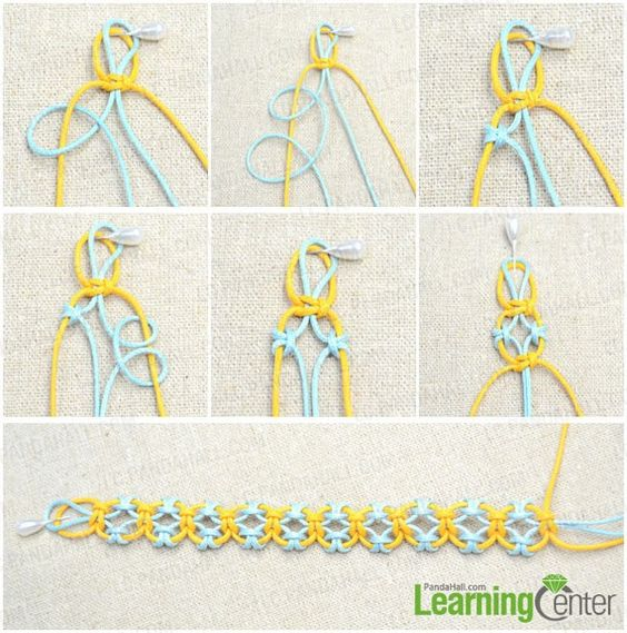 Starting Knot for Bracelet | start knitting lark's head knot bracelet