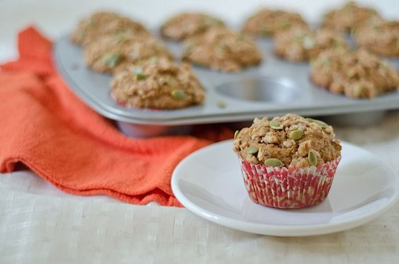 Healthy pumpkin muffins...would be lovely with breakfast
