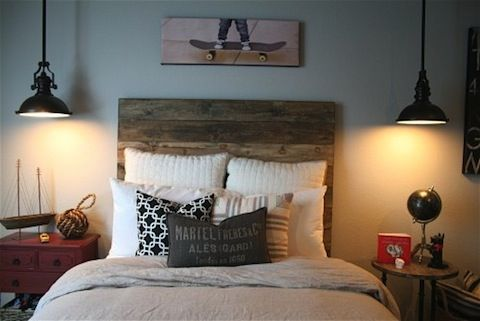 industrial-furniture. this bed looks like it could be made from old pallets.