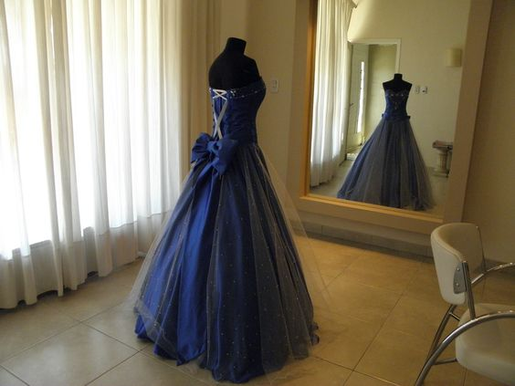 Vestido azul de 15