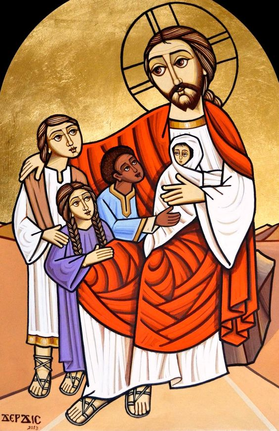 Christ blessing the children (coptic):