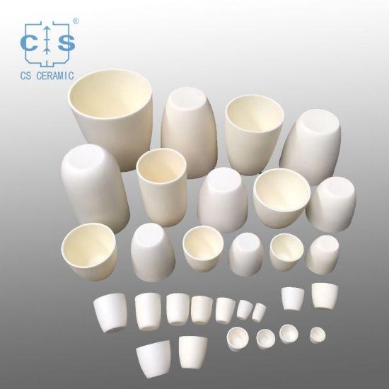 Conical Alumina Ceramic Crucible Ceramics Crucible Melting Glass