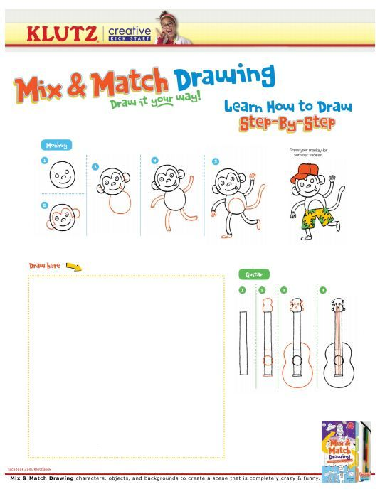 how to draw a monkey step by step instructions