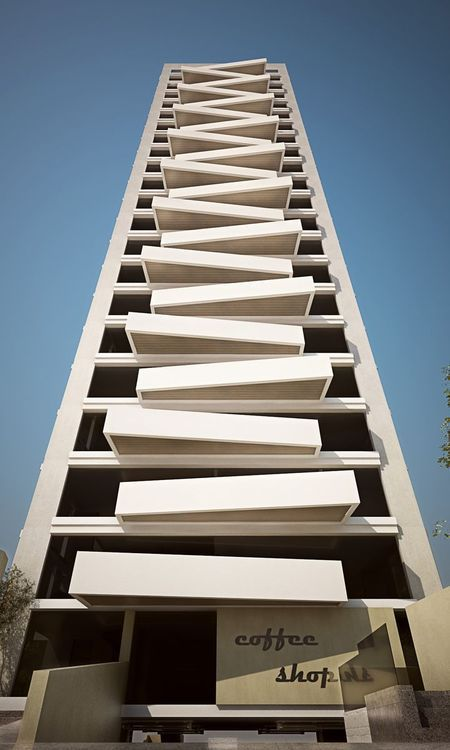 Texture condos and balconies on pinterest for Building balcony