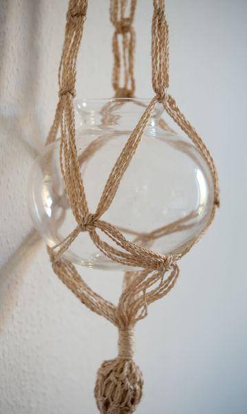 Aufbewahrungsmittel - Blumenampel aus Bleikristall / Schott Zwiesel - ein Designerstück von tauundtauschoenvintage bei DaWanda