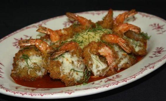 Shrimp Parmesan with Angel Hair