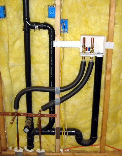 Plumbing for laundry room including utility sink. #plumbing #laundry