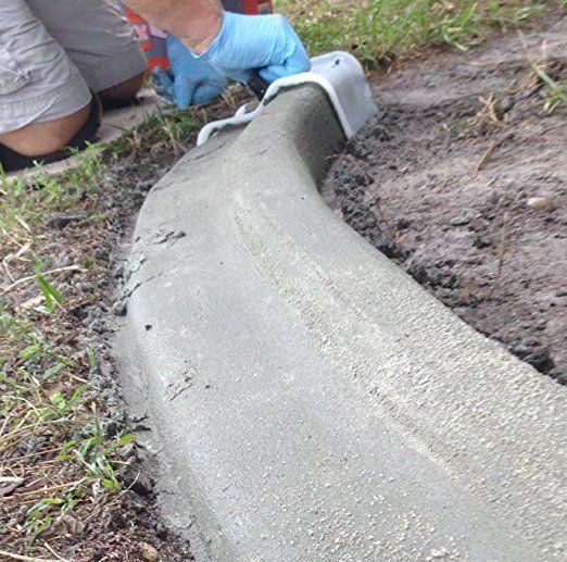 Amazon Com Curb It Yourself Concrete Trowel Kitchen Dining Concrete Edging Diy Landscaping Landscape Edging