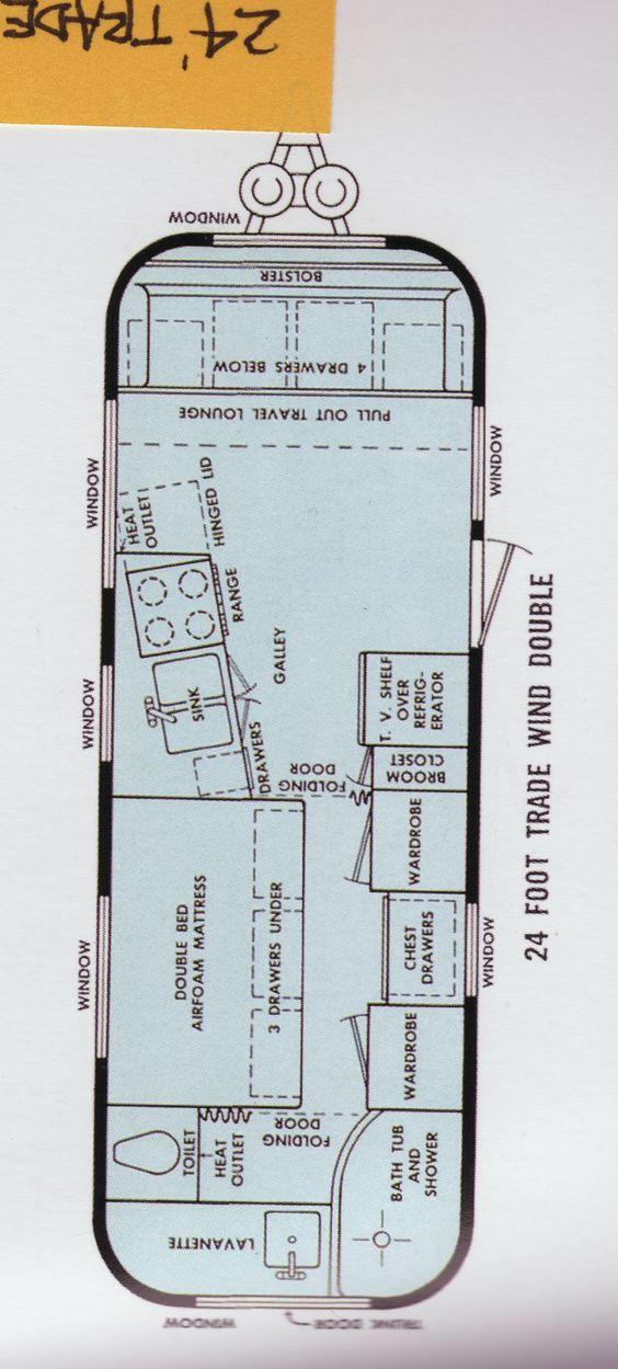 Floorplan airstream trade wind 63 pinterest for 1976 airstream floor plans