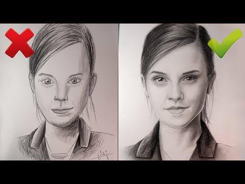 Dessiner Un Visage Réaliste Correct Et Incorrect Tuto Youtube Comment Dessiner Un Portrait Dessin Visage Comment Dessiner Un Visage