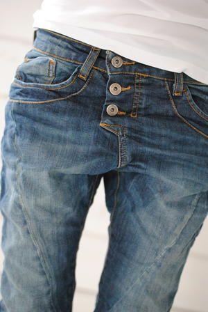 Please Jeans - Jeans in 3 kleuren   Perzik   Pink   Poeder Roze   Kit   Beige   Blue   Orange   Grey   Aubergine   Mint Groen Van Maat XS (34/36) t/m XL (44)