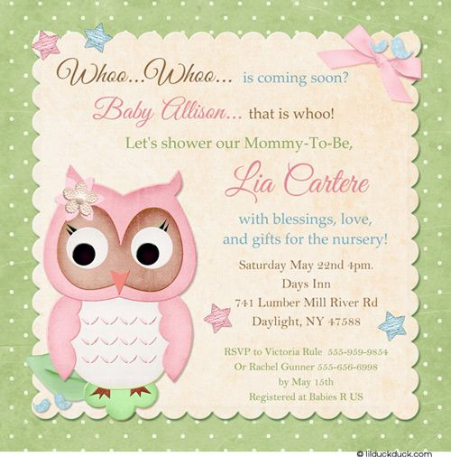 baby showers shower invitations owl babies baby shower invitations owl