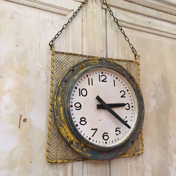 old industrial brillié clockfaces