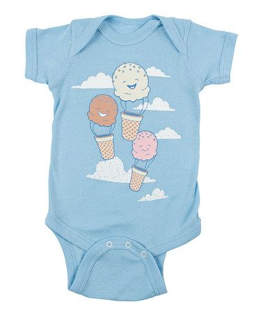 Another great find on #zulily! Light Blue Floatin' Scoops! Bodysuit - Infant #zulilyfinds