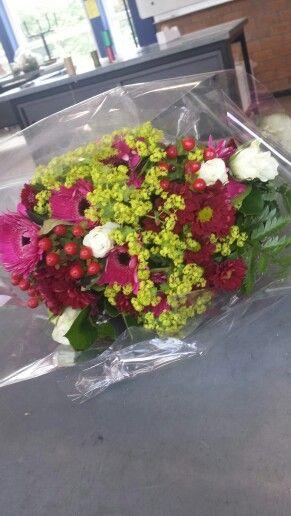 Korenschoof boeket  - de bloemen kunnen meer verspreid ..