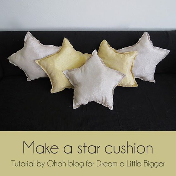 If you are you looking for some cosy decor for Christmas, what about making some star cushions? You know I like pillows, they are easy ...