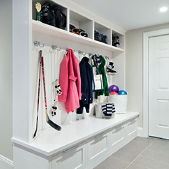 Even a small mudroom can help your family stay organized. by cleandesignpartners
