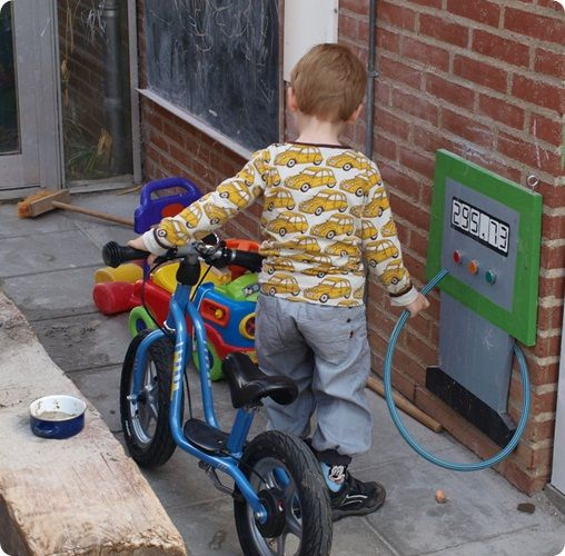 Gas station for outside (Brittany would have loved this when she was little):